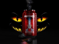Protea Fire & Ice! energy drink can design 02 - Demon Totem