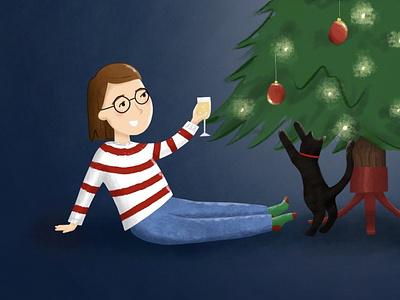 Merry Christmas #1 christmas card christmas adobefresco illustration