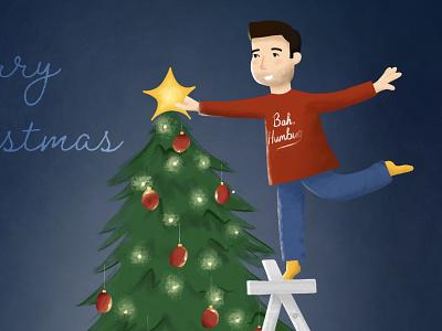 Merry Christmas #2 christmas card christmas adobefresco illustration