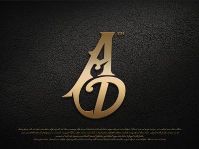 AD mark musician ad wordmark logo
