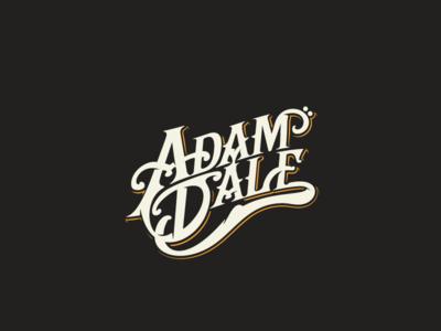 Adam Dale hand lettering custom song writer musician arts music