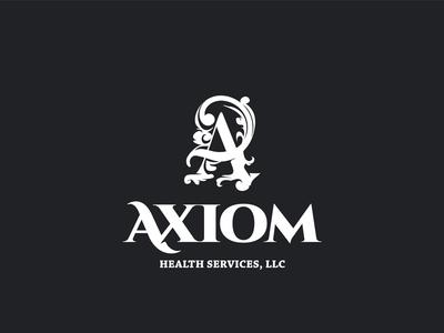 Axiom unique hand-drawn font medicine custom health