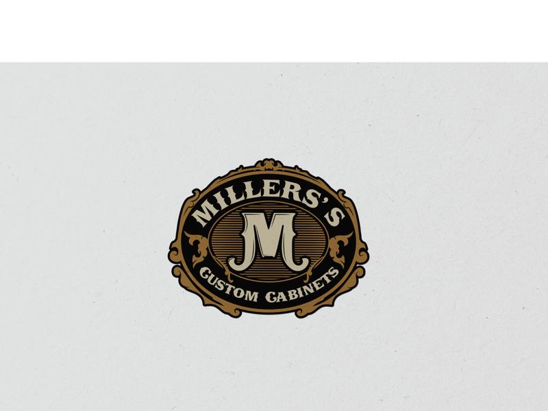 miller's swirls hand-drawn cabinets retro vintage custom cabinet wood