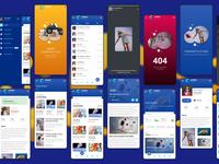 Lemux news and magazine mobile ux ui