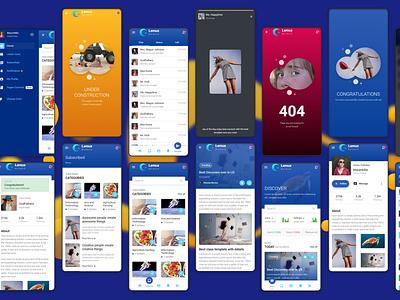 Lemux news and magazine mobile ux ui mobile app development bootstrap 4 ios iosapp mobile app android app framework7 ui ux app html 5