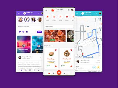 One UI UX mobile app HTML mobile app development mobile app android app ui design app ux bootstrap 4 html 5