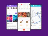 One UI UX mobile app HTML