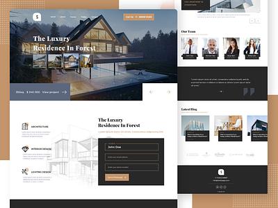 Architecture Landing Page sketch 2020 graphics design architecture ux ui web architect