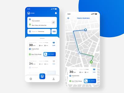 Bus Ticket Booking App UI bus app design uidesign uikit ios android uiux ui app online booking ticket