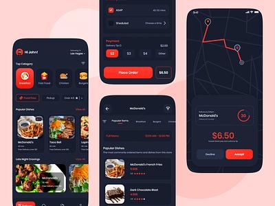 Food Delivery App UI food app delivery app restaurant online food order food uiux uidesign online ux app ios android design ui