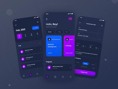 Task Management App project task management uiux uidesign ux app ios android design ui