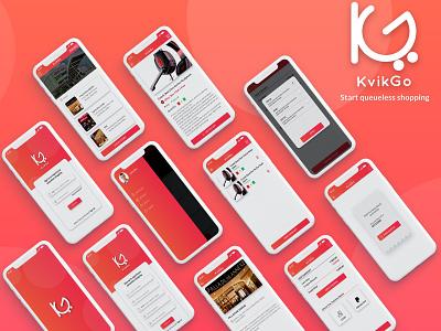 KvikGo (Queueless Checkout App UI) ecommerce shopping app ios ui android app