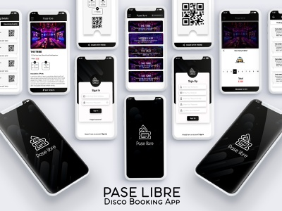 Pase Libre ( Dicso Booking App) mockup darkui ux ui ios android disco booking app