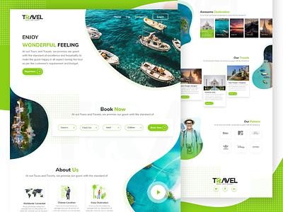 Travel Web UI website booking online design ux ui web travel