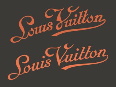 Louis Vuitton script redesign