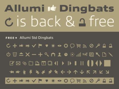 Allumi Free Dingbats allumi typofonderie 2013 2010 dingbats opentype font typography
