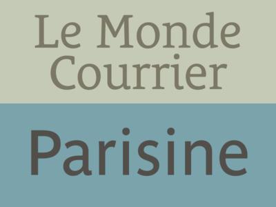 Le Monde Courrier + Parisine pairing parisine le monde courrier typofonderie opentype font typography
