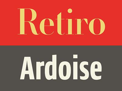 Pairing Retiro Ardoise retiro didot zecraft typofonderie spanish ardoise pairing sanserif typography