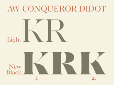 AW Conqueror Didot Black K or K?