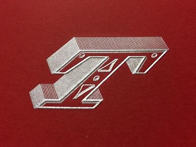 Typofonderie monogram silver print stamping monogram typofonderie