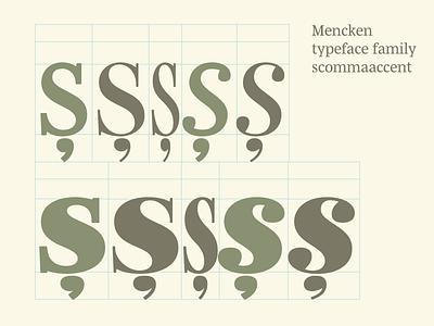 Checking Mencken scommaaccent typeface font robofont diacritics typofonderie final condensed head text mencken