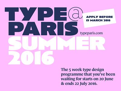 typeparis16 – apply before 15 March 2016 fonts design paris programme typedesign typeparis16 typeparis