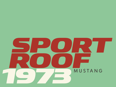 Sport Roof 1973 typography fonts typefaces red green ysans sanserif automotive car fast