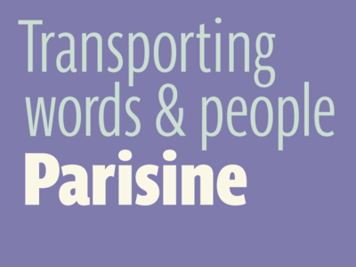 Parisine transport words and people