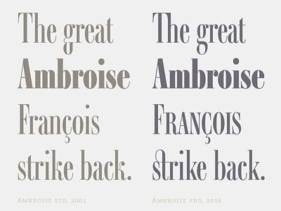 Ambroise Pro François opentype pro typography typefaces fonts didot ambroise