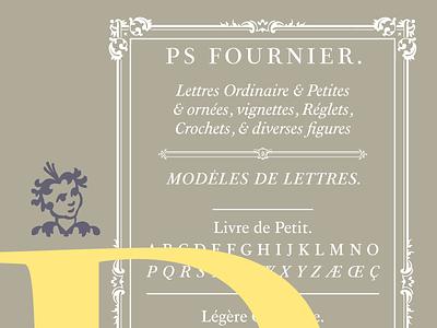 PS Fournier by Stéphane Elbaz magazine publishing luxury design display text serif opentype font ps fournier stephane elbaz typofonderie