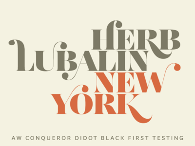 AW Conqueror Didot Black — first test