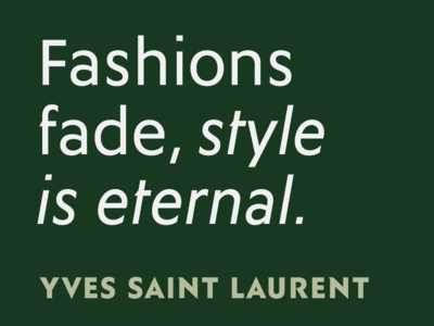 Fashions fade, style is eternal: Ysans