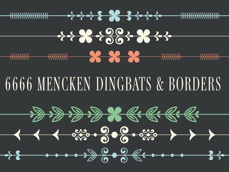 6666 Mencken Dingbats & Borders!