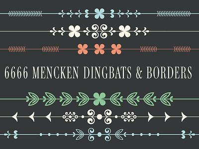 6666 Mencken Dingbats & Borders! borders typofonderie dingbats opentype variable satan devil 6666 mencken menckenpro typography