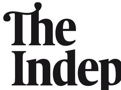 The Independent Magazine nameplate logotype nameplate independent magazine uk france zecraft serif
