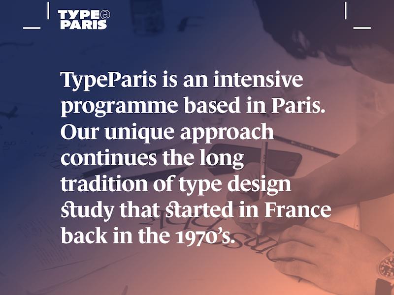 TypeParis Summer 2018 workshop design fonts typeface typeparis