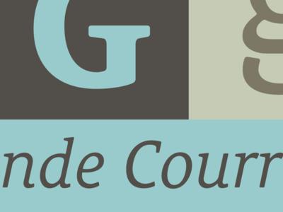 2010 Le Monde Courrier G le monde courrier typography typeface porchez typofonderie 1999 2012 2010