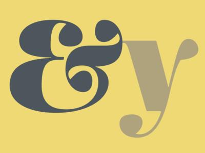 Mencken Head Black Ampersand + y