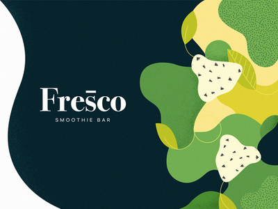 ✿ Fresco branding texture fruits shapes illustration logo branding
