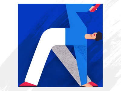 Go Yoga vector design flat texture blue concept character colors illustration