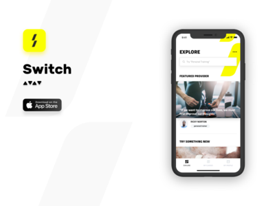 SwitchDXB ios mobile agency nomtek payment details feed fitness marketplace switch