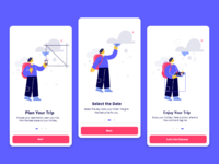 Modern Travel Holiday App Onboarding Screen UI Design