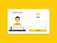 Modern Flat UI Student Dashboard Login Form in VB.NET