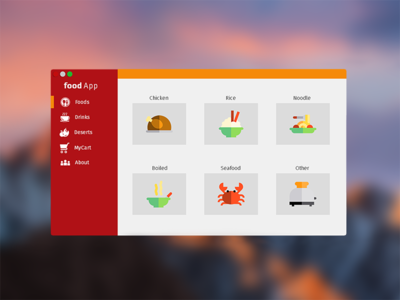 Modern Flat UI Desktop Application of Fast Food Restaurant