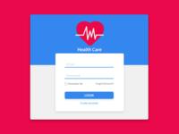 Hospital Health Care App Login Form