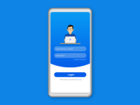Blue Gradient Login Form