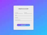 Sign Up Form UI Design