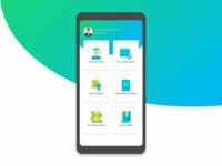 Modern College Dashboard UI Design Android