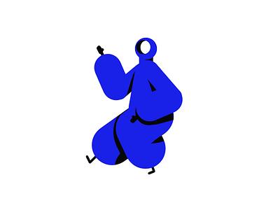 Gamba Mascot dancing graphic design graphic doodle hero pose vector illustration hero design character design