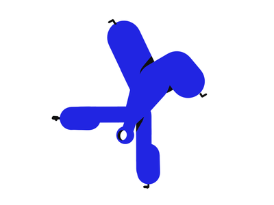 Gamba Mascot graphic doodle graphic design walkcycle dancing design vector hero pose illustration hero character design